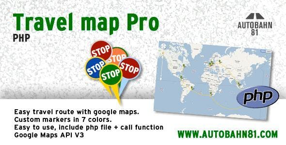 Travel map pro php