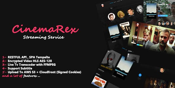 CinemaRex - Streaming Service