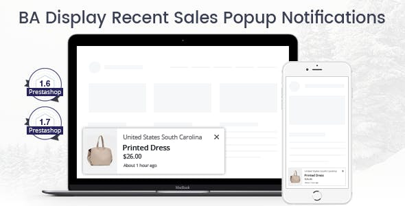 Prestashop Recent Sales Popup Notifications Module – Prestips