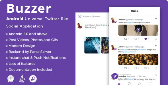Buzzer | Android Twitter-like Social Application - CodeCanyon Item for Sale