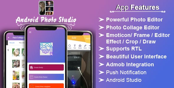 Android Photo Studio - Photo Collage, Editor, Stickers, Frame, Effect, Crop