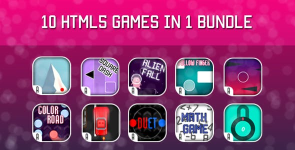 Games Bundle - 10 HTML5 Games (CAPX)
