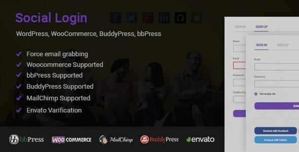Social Login for WordPress WooCommerce BuddyPress bbPress - CodeCanyon Item for Sale