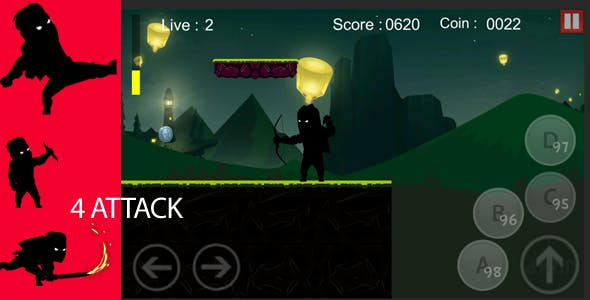 Ninja Shadow Fight Adventure Unity