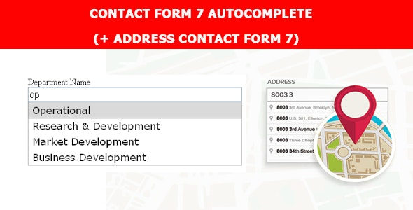Contact Form Seven CF7 Autocomplete - Address Field (Add-on