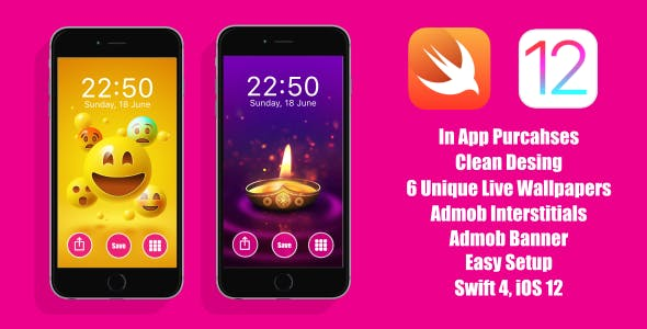 Live Wallpapers App | iOS 12 | In App Purchase - CodeCanyon Item for Sale