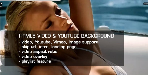 HTML5 Video & Youtube background - CodeCanyon Item for Sale