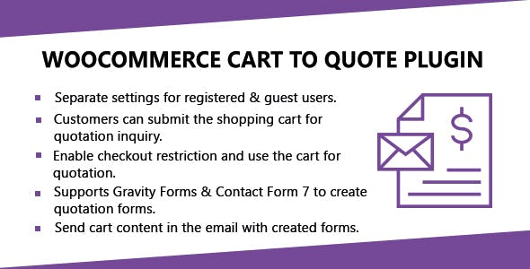 WooCommerce Cart To Quote Plugin