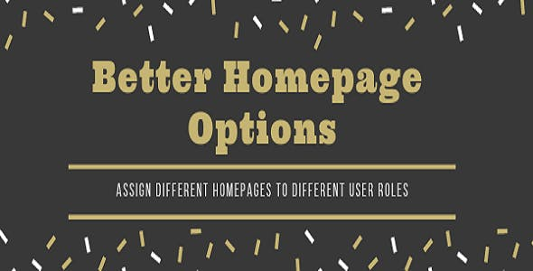 Better Homepage Options