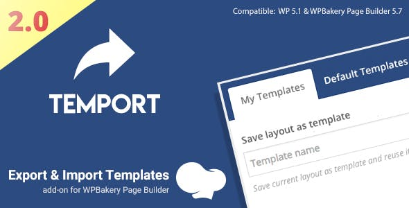 Export & Import Template for WPBakery Page Builder | Temport