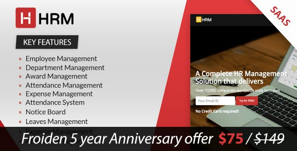 HRM SAAS - Human Resource Management        Nulled