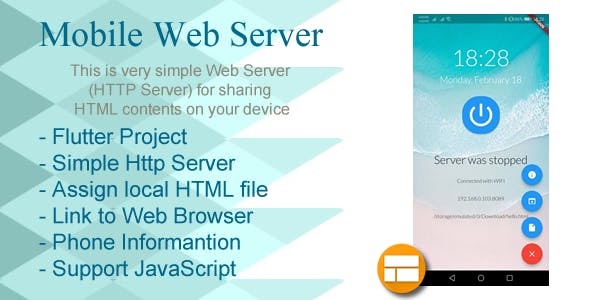 Mobile Web Server (HTTP server on Device) for Android