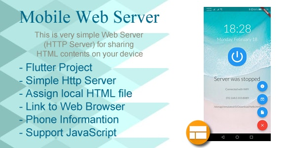Mobile Web Server (HTTP server on Device) for Android by
