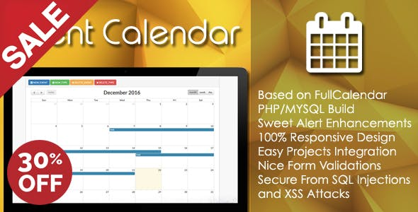 Bootstrap and Schedule PHP Calendar Code & Scripts
