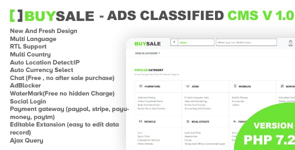 Premium Classified Ads Php Script - BuySale Classified        Nulled