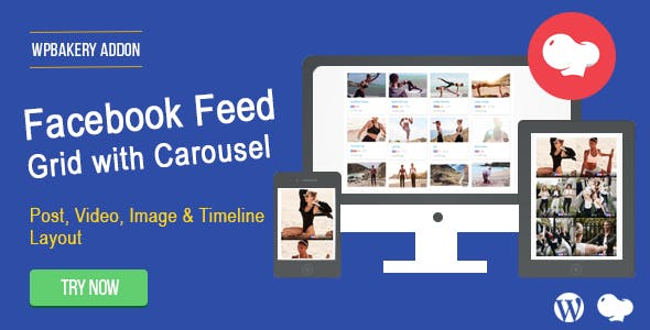 Facebook Feed : Post, Photo, Video and Timeline for WPBakery Page Builder