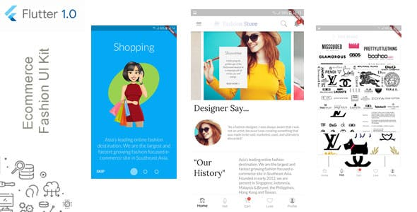 Ecommerce Fashion UI Kit for iOS