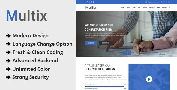 Multix - Multipurpose Website CMS with Codeigniter