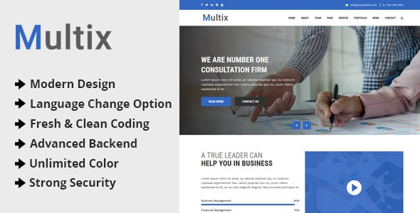 Multix - Multipurpose Website CMS with Codeigniter - CodeCanyon Item for Sale
