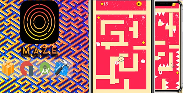 Mazy Maze ⭐ Labyrinth Puzzle - Xcode & AdMob - CodeCanyon Item for Sale