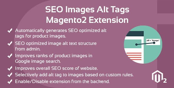 SEO Images Alt Tags Magento 2 Extension