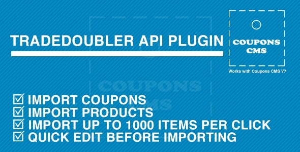 TradeDoubler Plugin for Coupons CMS - CodeCanyon Item for Sale
