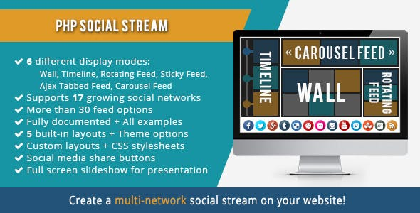 PHP Social Stream - CodeCanyon Item for Sale