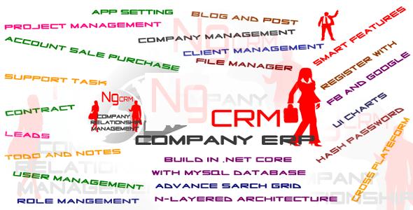 NgCRM Angular 7 CRM SinglePage Boilerplate Application | .net core api | Open Source - CodeCanyon Item for Sale