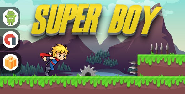 SUPER BOY WITH ADMOB - BUILDBOX PROJECT + ANDROID STUDIO