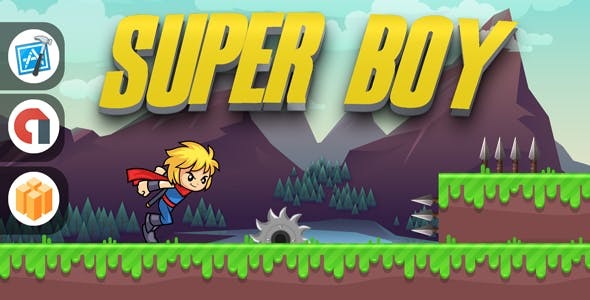 SUPER BOY WITH ADMOB - IOS XCODE PROJECT