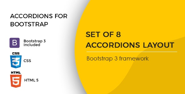 Accordions for Bootstrap 3 Framework - CodeCanyon Item for Sale