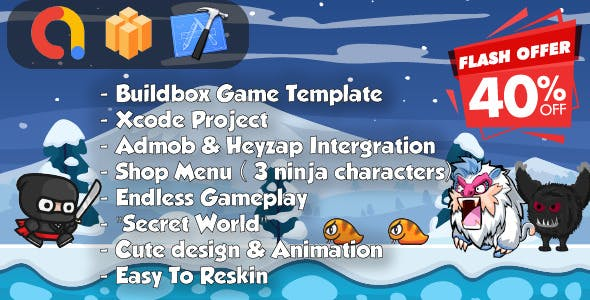 Ninja Adventure - Xcode & Builbdox Game Template