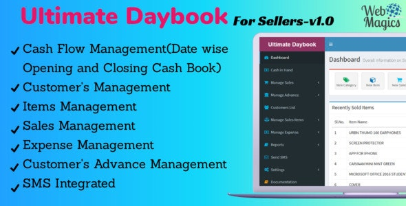 Ultimate Daybook - For Sellers by webmagics | CodeCanyon