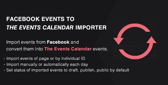 Events Importer from Facebook to The Events Calendar Addon - PRO