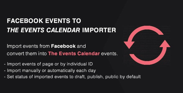 Events Importer from Facebook to The Events Calendar Addon - PRO - CodeCanyon Item for Sale