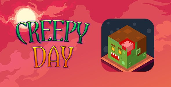 Creepy Day Isometric Flappy Game HTML5 + Capx