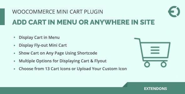 WooCommerce Mini Cart Plugin, Add Cart in Menu or Anywhere in Site