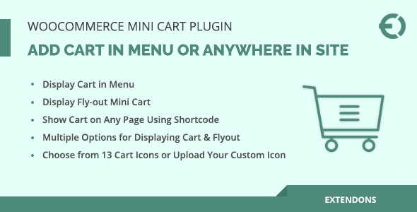 WooCommerce Mini Cart Plugin, Add Cart in Menu or Anywhere in Site - CodeCanyon Item for Sale