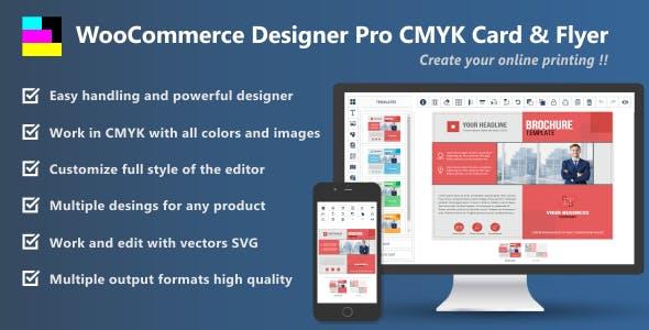 WooCommerce Designer Pro CMYK Card & Flyer