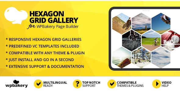 Hexagon Grid Gallery Addon for WPBakery Page Builder (formerly Visual Composer)