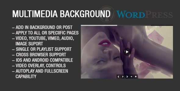 Image Video Audio Background for Wordpress