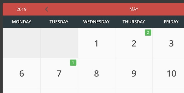 eCalendar - Responsive Events Calendar - CodeCanyon Item for Sale
