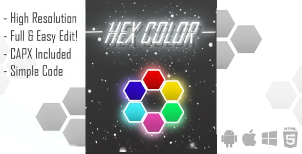 Hex Color HTML Game Template (capx)