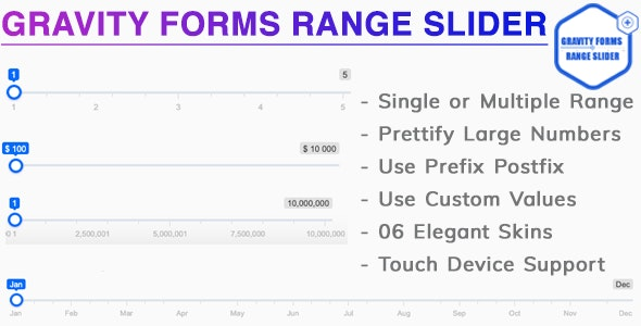 Gravity Forms Range Slider by bhagwantbanger | CodeCanyon