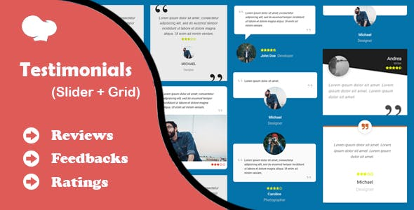 Testimonials Slider and Grid for WPBakery Page Builder (formerly Visual Composer)
