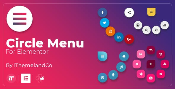 Circle Menu For Elementor