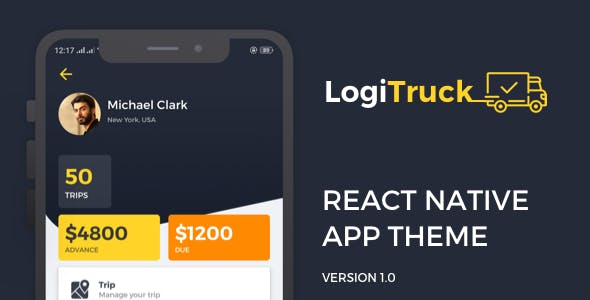 Logi Truck React Native Theme