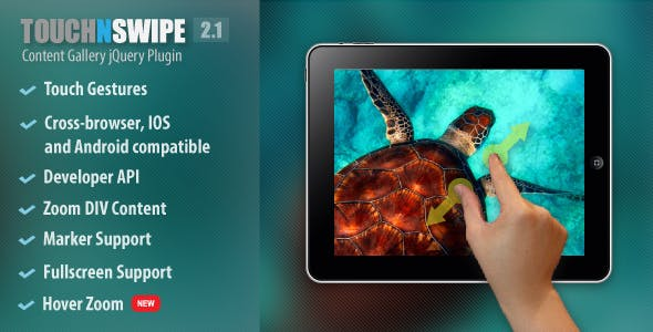 Touch N Swipe Gallery jQuery Plugin