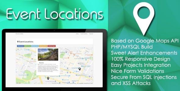 Event Locations - PHP/MYSQL Plugin