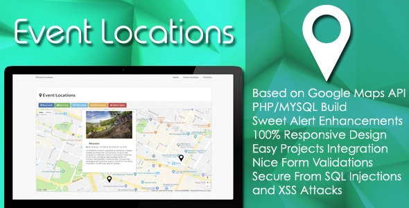 Event Locations - PHP/MYSQL Plugin - CodeCanyon Item for Sale